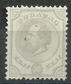 Curacao   8D 12½ × 12  30 ct Willem III Ongebruikt (2)