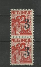 Nederlands Indië 322a PM in paar Postfris