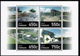 Curaçao Status Aparte 425 Blok Gebouwen 2019 Postfris