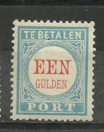 Port  12D 1 Gld Cijfer  1881/1887 Type III 12½ × 12½ Ongebruikt (2)