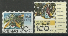 Nederlandse Antillen 1020/1021 Kerst 1992 Postfris