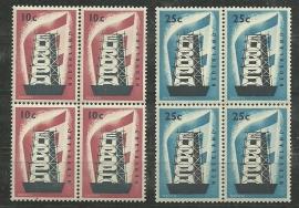 Nvph 681/682 Europa 1956 in Blokken Postfris