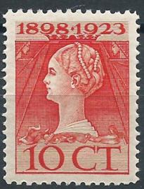 Nvph 124C 10 ct (11×12)  Jubileum 1923 Postfris (1)