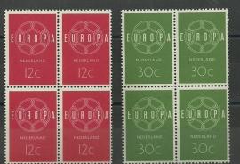 Nvph 727/728 Europa 1959 in Blokken Postfris