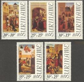 Suriname Republiek  21/25 Paasweldadigheid 1976 Postfris