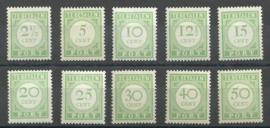 Curaçao Port 21/30 1915 Cijfer en waarde in Groen Postfris (1)