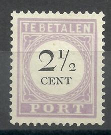 Suriname P  9 2½ct Type II Ongebruikt (2)