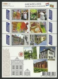 Nvph V2752/2757c Grenzeloos Nederland - Suriname Postfris