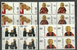 Nvph. 1020/1023 Kinderzegels 1972 in Blokken Postfris