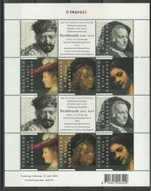 Nvph V2429/2433 Rembrandt Postfris