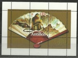 Nederlandse Antillen 1486 Blok Chinees Nieuwjaar 2004 Postfris