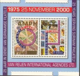 Suriname Republiek 1176 Blok Amphilex 2002 Postfris