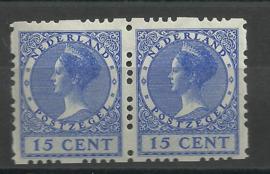 Roltanding 48 15 ct Vierzijdige Roltanding in paar Postfris (1)