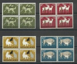 Nvph 812/815 Zomerzegels 1964 in Blokken Postfris