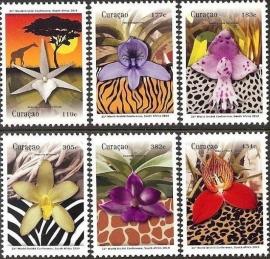 Curaçao Status Aparte 231/236 Orchideeën 2014 Postfris