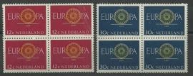 Nvph 745/746 Europazegels 1960 in blokken Postfris