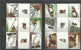 Nederlandse Antillen 1615a/1620a Muziekinstrumenten Postfris