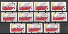 AU VA 8 11 Waarden  Klussendorf 5-6-1998 Den Haag Postfris