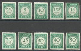 Curaçao Port 34/43 Cijfer en waarde in Donkergroen Postfris (1)