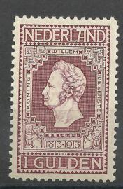 Nvph  98A  1 Gld (11½×11) Jubileum 1913 Postfris (1)