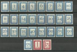 Port  80/106 Cijfer 1947-1958 Postfris