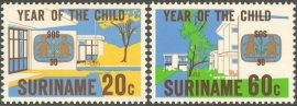 Suriname Republiek 183/184 SOS Kinderdorpen 1979 Postfris