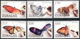 Curaçao Status Aparte 351/356 Vlinders 2017 Postfris