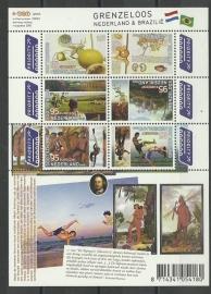Nvph V2658/2663a Grenzeloos Nederland Brazilië Postfris