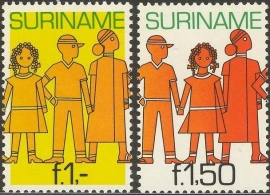 Suriname Republiek 252/253 Surinaamse Jeugd 1981 Postfris