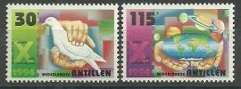 Nederlandse Antillen 1078/1079 Kerst Postfris