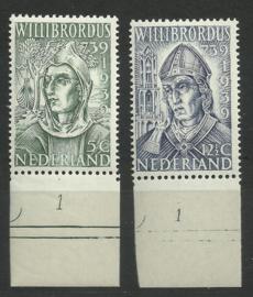 Nvph 323/324 Willibrordus Postfris met Plaatnummers (1)