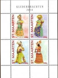 Sint Maarten 234/237 Klederdrachten 2014 Postfris
