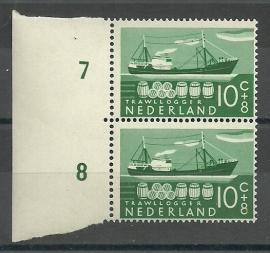 Plaatfout  691 PM1 in Paar Postfris