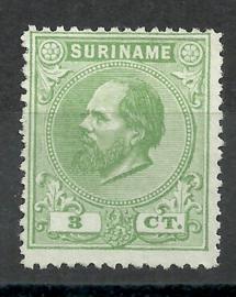 Suriname   4A (14 × 14) kleine gaten 3ct Willem III Ongebruikt (1)