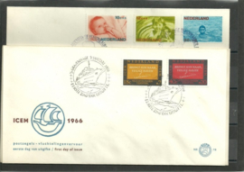 FDC Jaargang 1966 compleet onbeschreven met open klep E78/E81