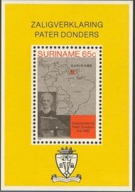 Suriname Republiek 300 Blok Pater Petrus Donder 1982 Postfris