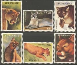 Suriname Republiek  697/702 Wereld Natuur Fonds 1991 Postfris