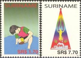 Suriname Republiek 1293/1294 Kinderzegels 2004 Postfris