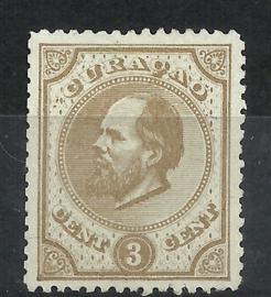 Curacao   2A 14 × 14 kl.g. Willem III Ongebruikt (1)