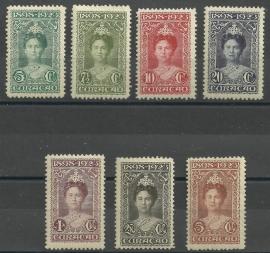 Curacao  75/81 25 Jarig Regeringsjubileum Ongebruikt (1)