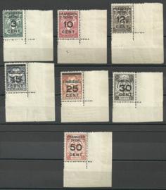 Suriname 130/136 Brandkast in hoekstukken Postfris (1)