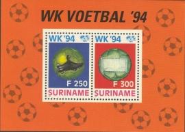 Suriname Republiek  806 Blok WK Voetbal 1994 Postfris