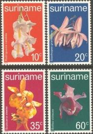 Suriname Republiek 157/160 Orchideeën 1979 Postfris