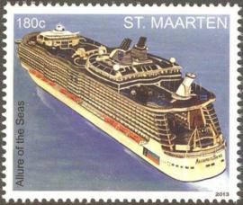 Sint Maarten 142/143 Cruiseschepen 2013 Postfris