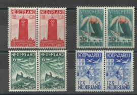 Nvph 257/260 Zeemanszegels in Paren Postfris
