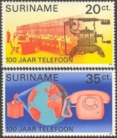 Suriname Republiek  35/36 100 Jaar Telefoon 1976 Postfris