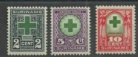 Suriname 127/129 Groene Kruiszegels Ongebruikt