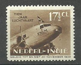 Nederlands Indië 239P 17½ct 10 Jaar Indische Luchtvaart Ongebruikt