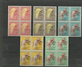 Nieuw Guinea 25/29 Postfris in Blokken