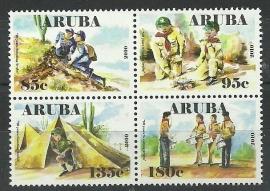 Aruba 440/443 10 jaar Scouting Aruba Postfris